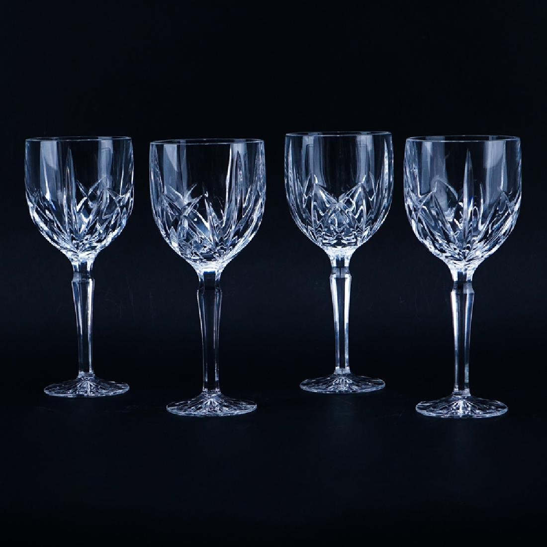 Four (4) Waterford for Marquis Crystal Goblets. Signed.
