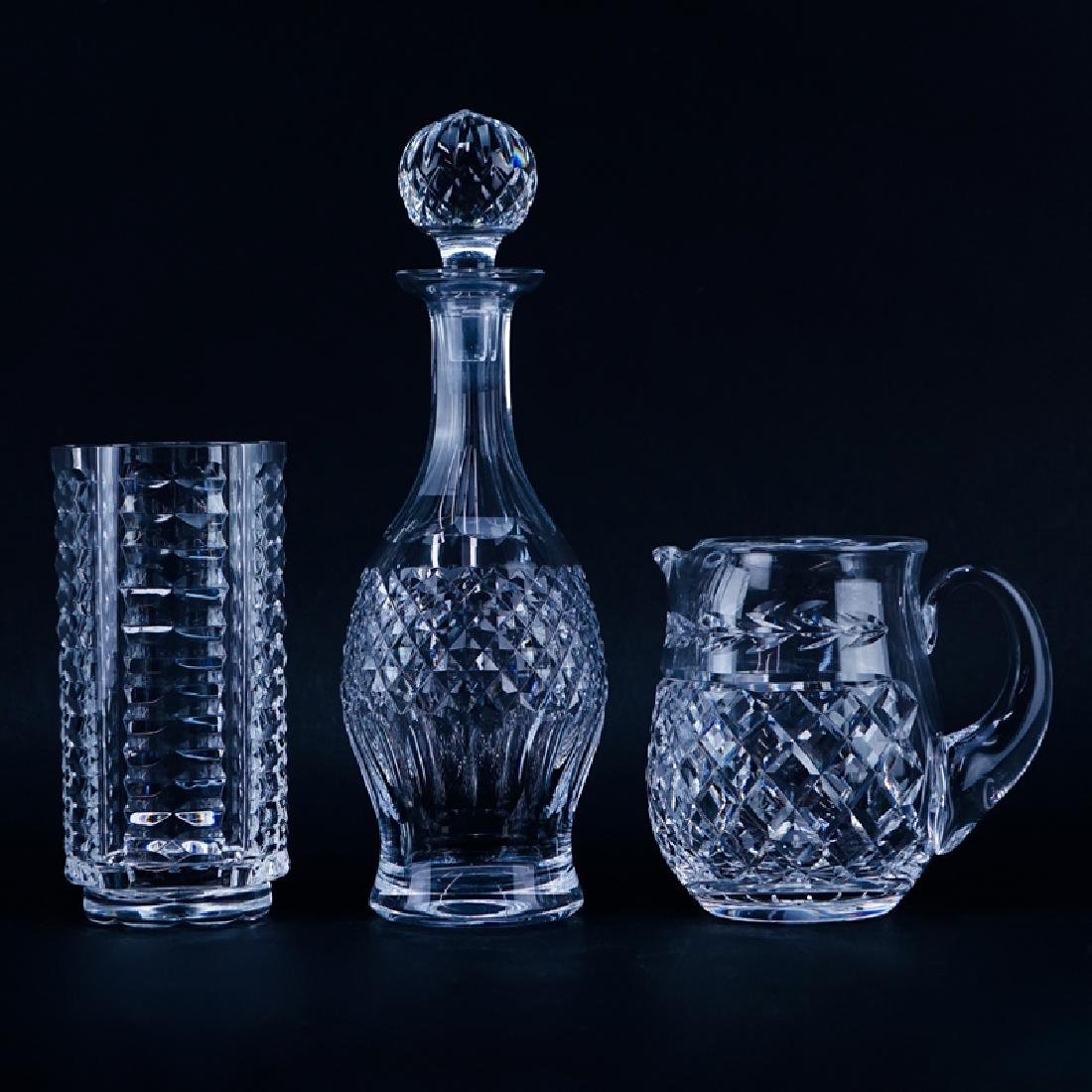 Three (3) Waterford Crystal Tableware. Includes: