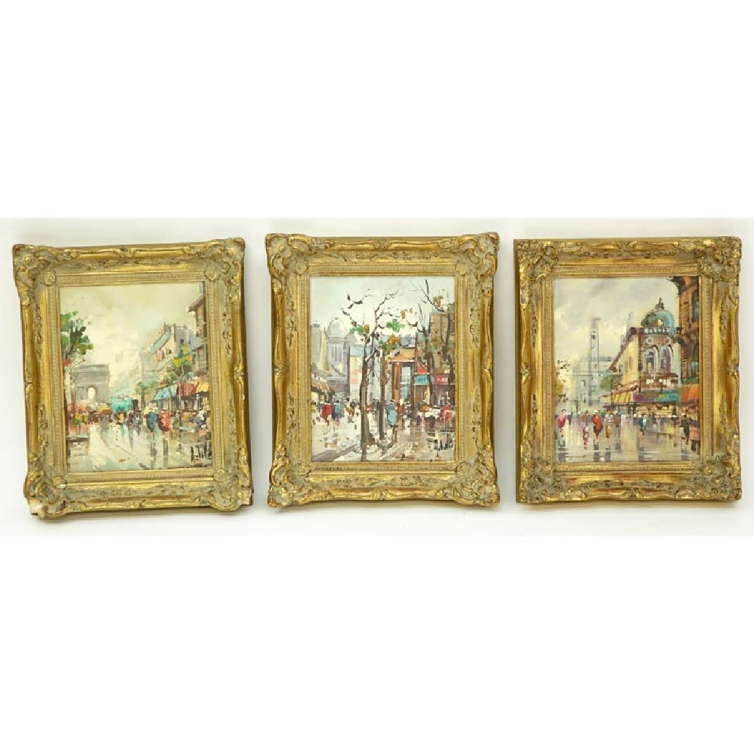 Three (3) Antonio DeVity, Italian (1901 - 1993) Oil on