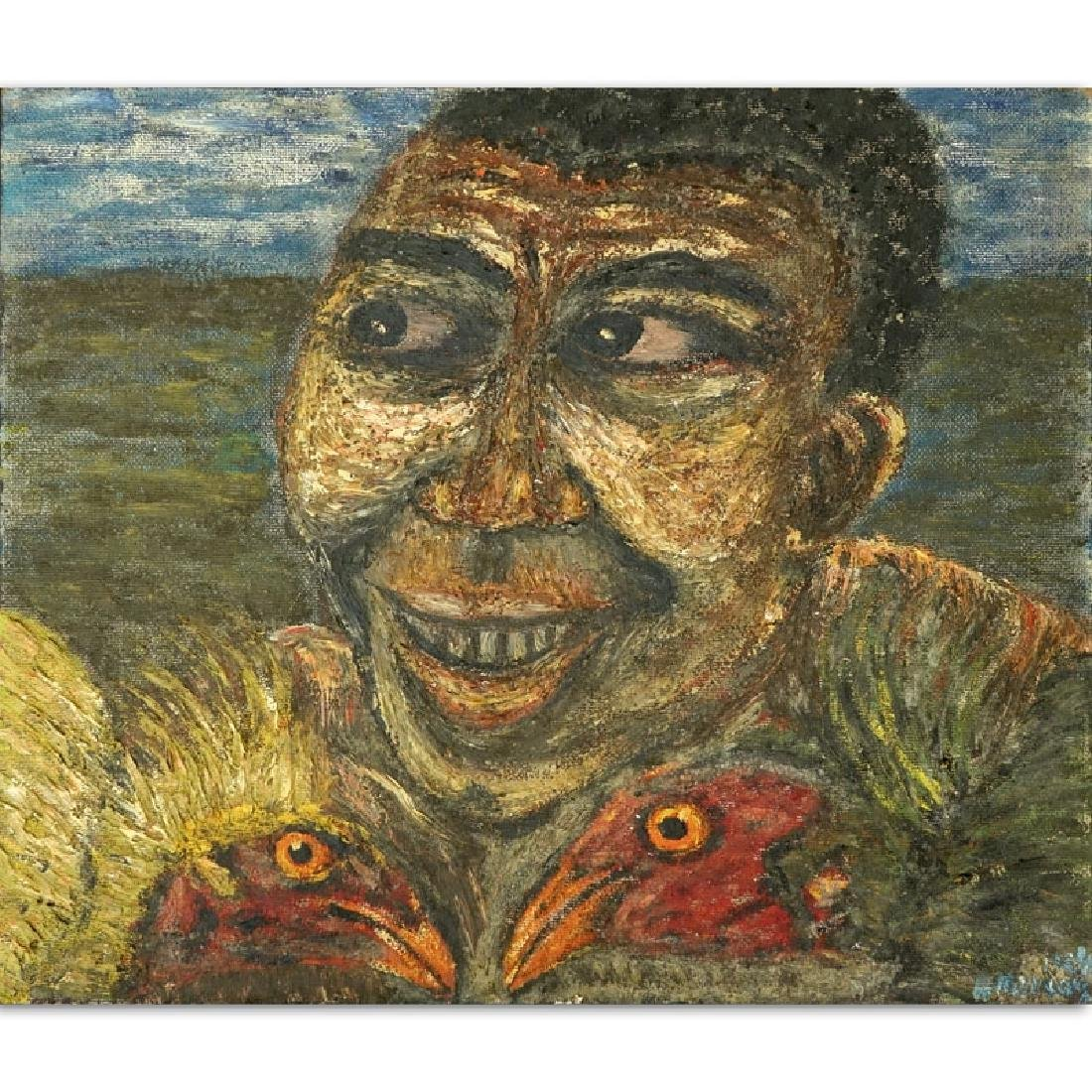 Henri Merceron, Haitian (20th century) Oil on Masonite,