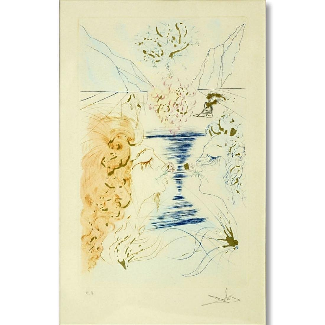 Salvador Dali, Spanish (1904 - 1989) Color Etching with