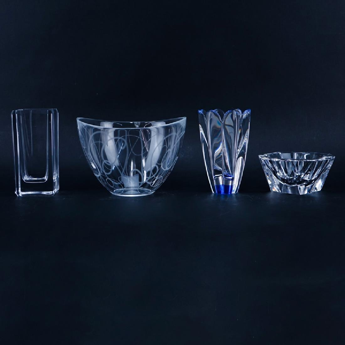 Collection of Four (4) Vintage Crystal Tableware.