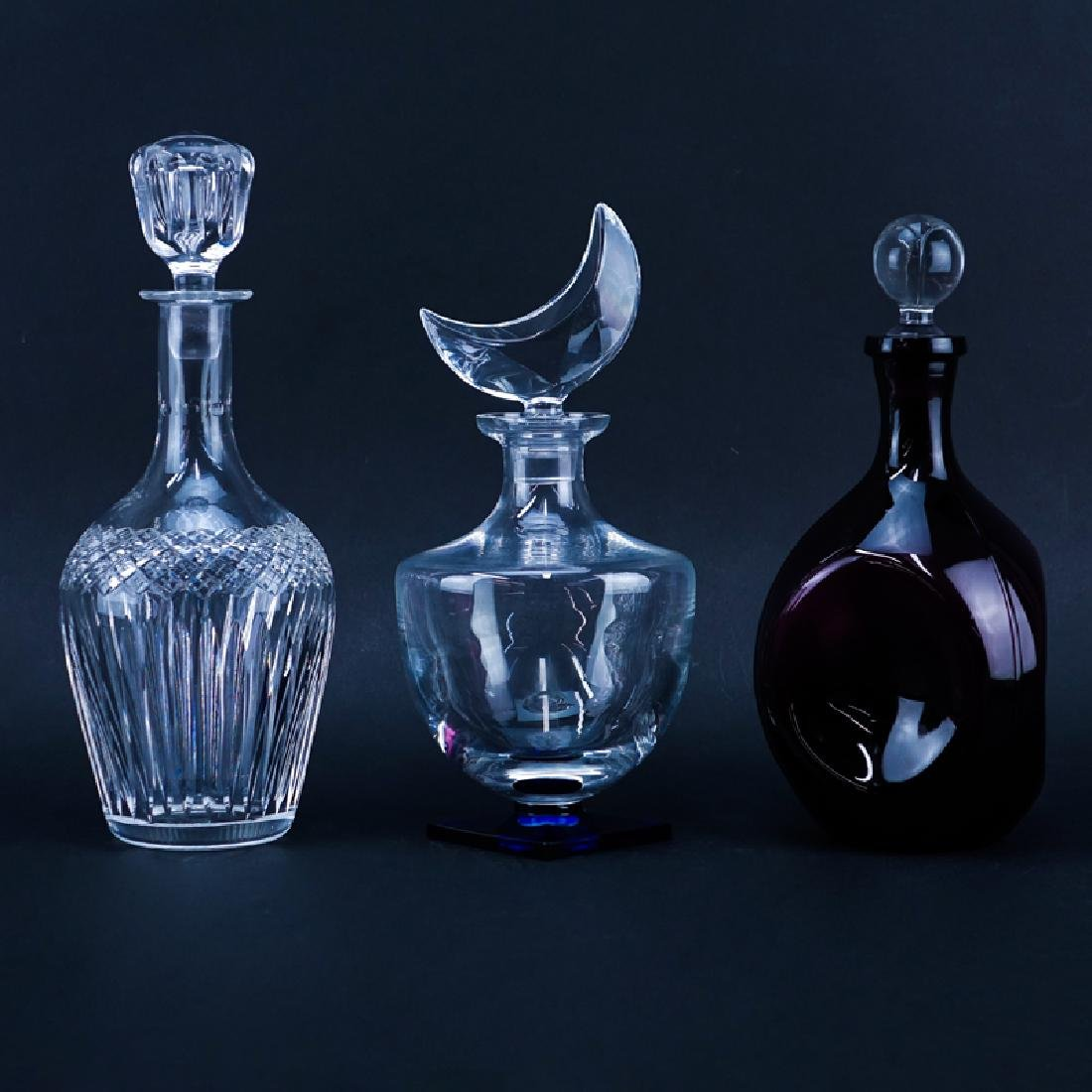 Grouping of Three (3) Vintage Decanters. Includes: