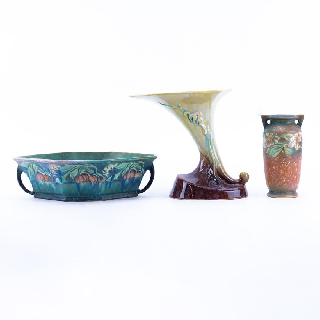 Three (3) Roseville Pottery Tableware. Includes:
