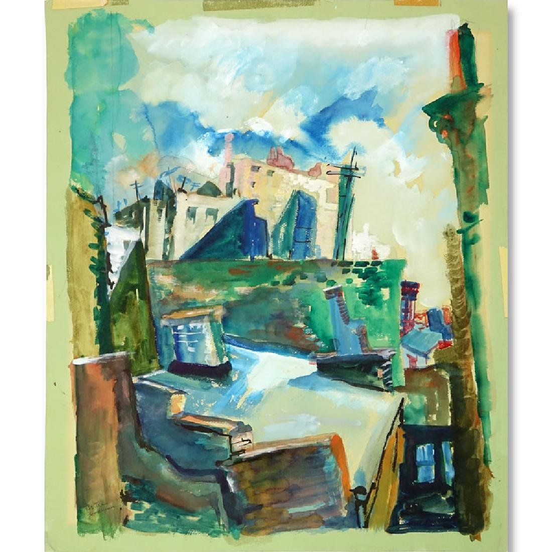 Bertram A Goodman, American (1904 - 1988) Watercolor on
