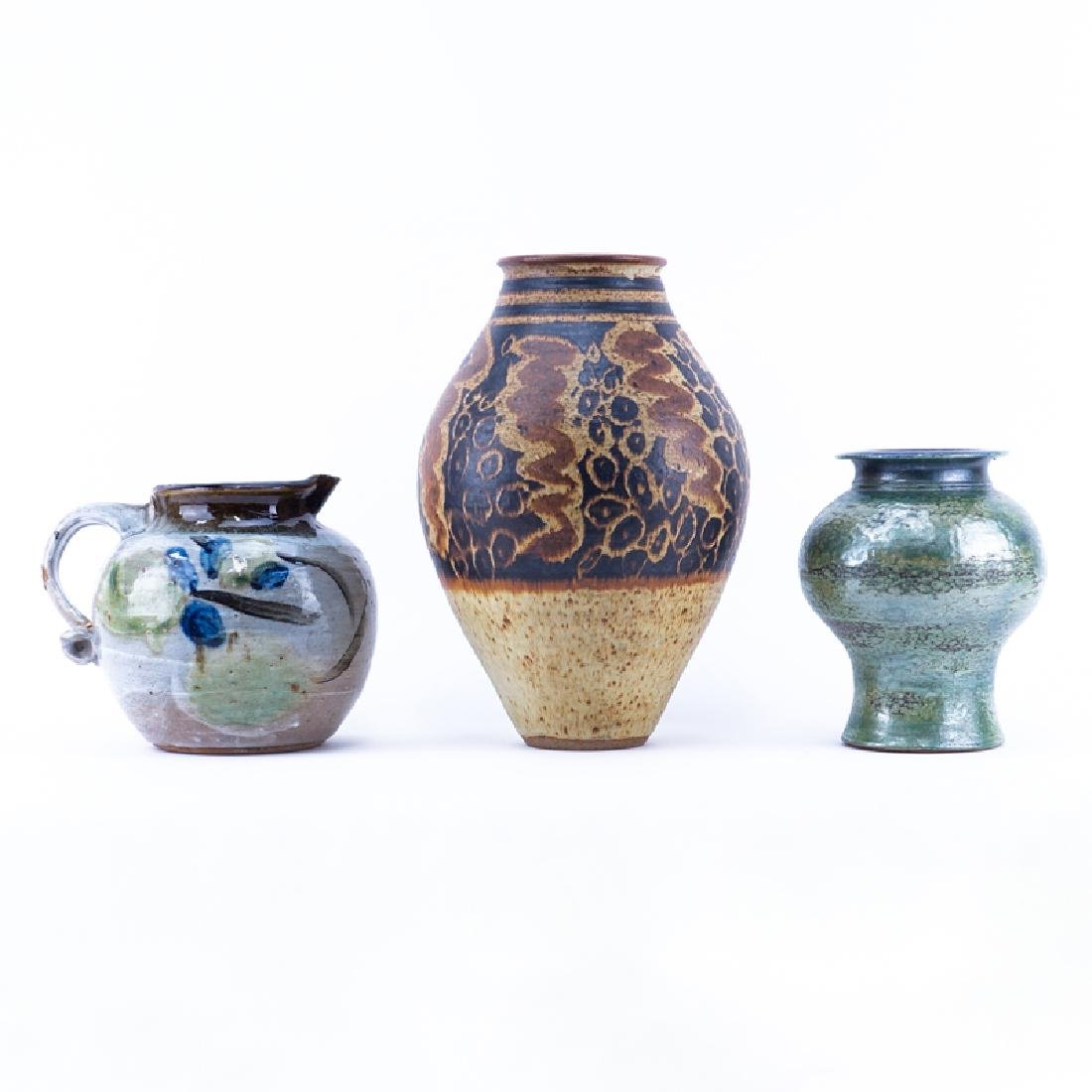 A Grouping of Three (3) Studio Art Pottery Vases. All