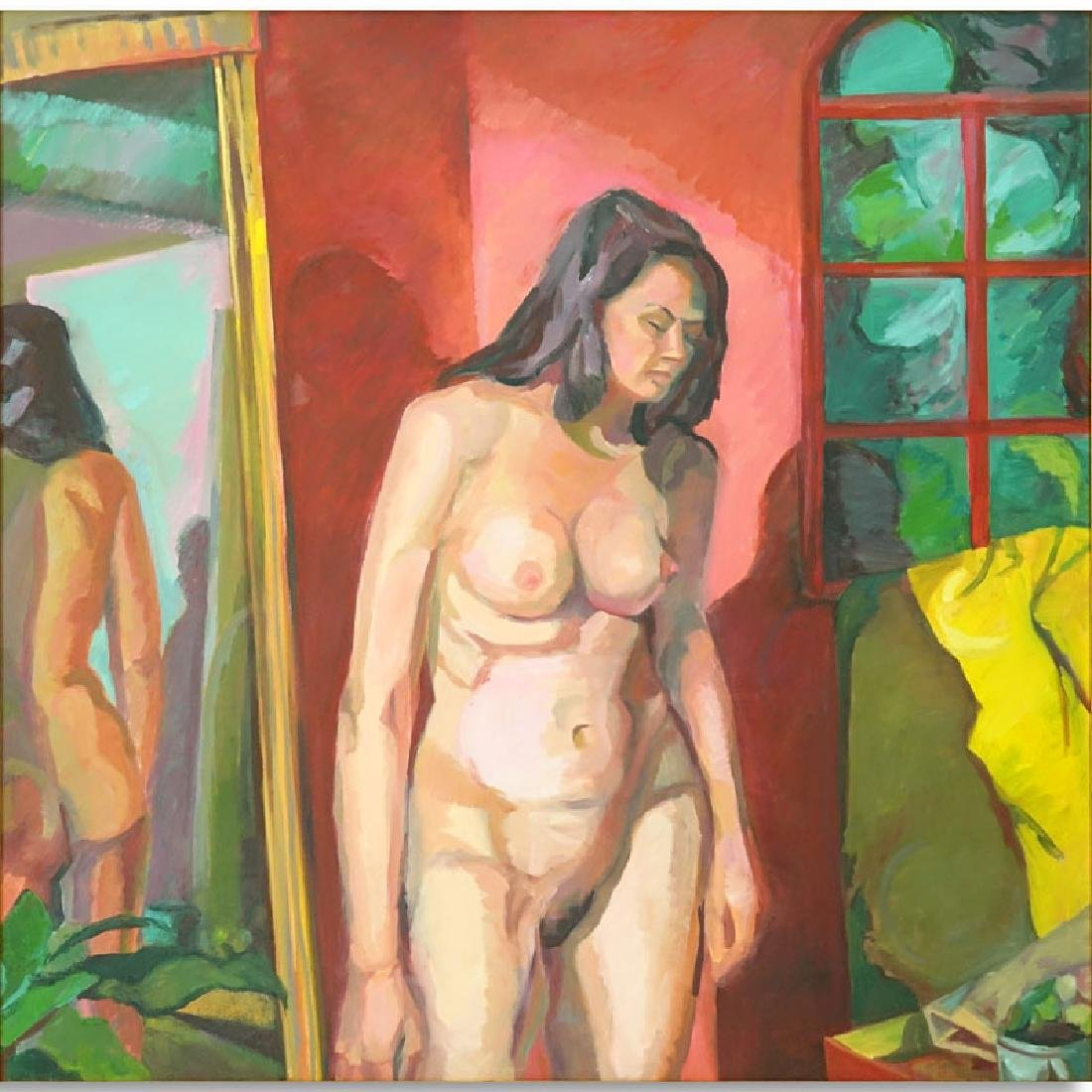 """Roxene Sloate (20th Century) Oil on Canvas """"Reflections"""