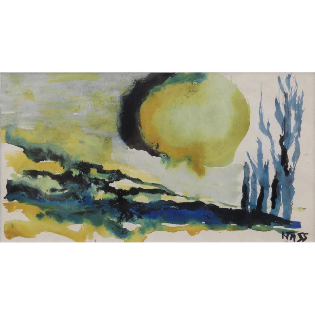 Miklós Németh, Hungarian  (1934-2012) Watercolor on