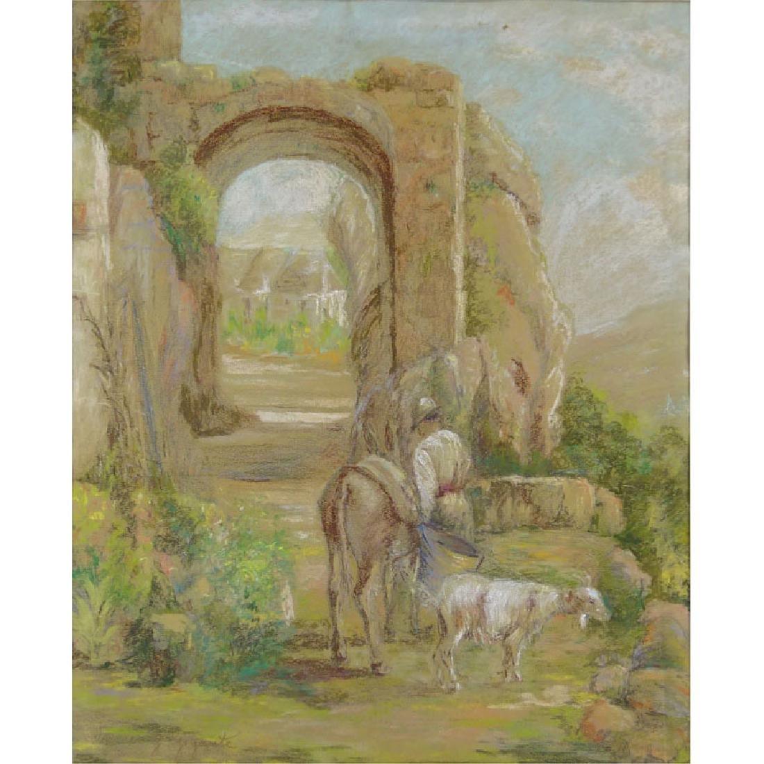 Giacinto Gigante, Italian (1806-1876) Pastel on paper
