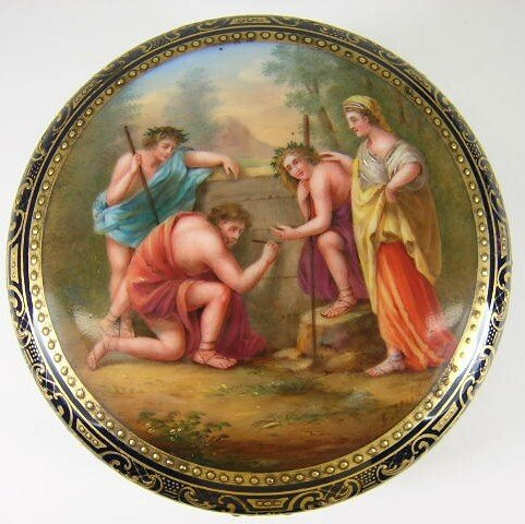 6: Excellent 19/20C Vienna Hand Painted Heavily Gilded