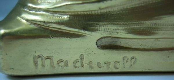 9: F. Madurell Art Nouveau Gilded Jewelry Casket w/ Hig - 6