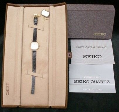 33: Brand New Seiko 14k Yellow Gold Ladies Wristwatch X