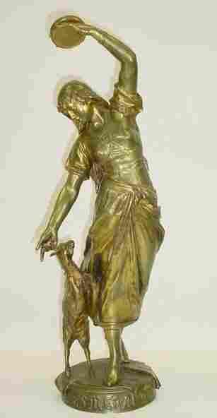 189: Eugène Marioton French (1854-1925) Bronze Sculptur