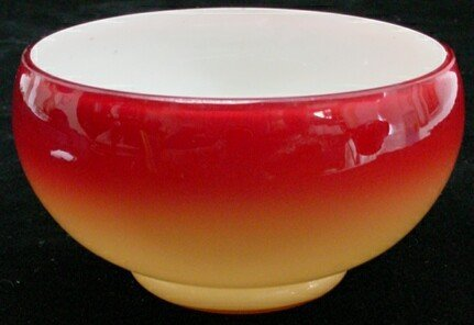 503: Wheeling Peachblow Art Glass Bowl. Unsigned. Good