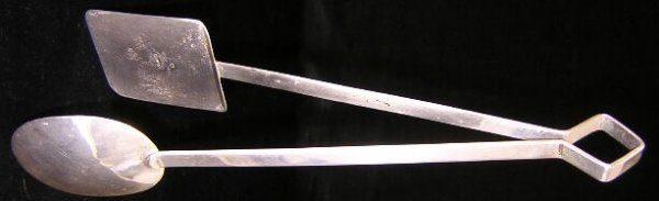 522: Art Deco Perlita Mexican Sterling Silver Serving S
