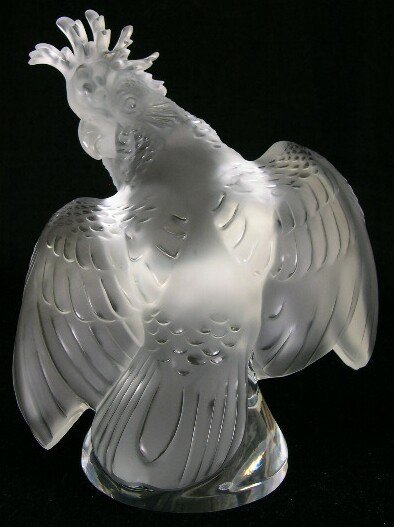 545: Very Large/Heavy Lalique France Frosted and Clear