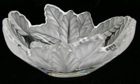 547: Lalique France Frosted and Clear Crystal Candy Dis