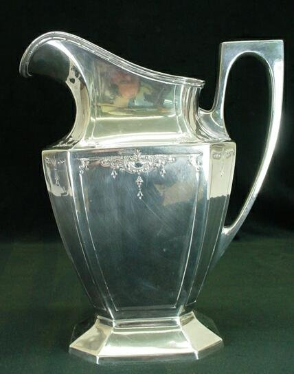 623: Wrought-Right Silver Plate Handled Pitcher Circa 1