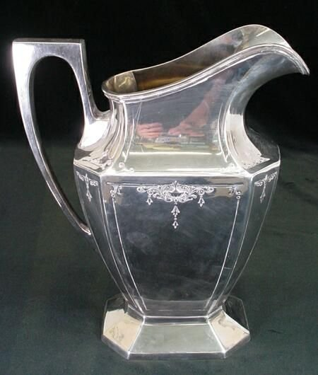 623: Wrought-Right Silver Plate Handled Pitcher Circa 1 - 3