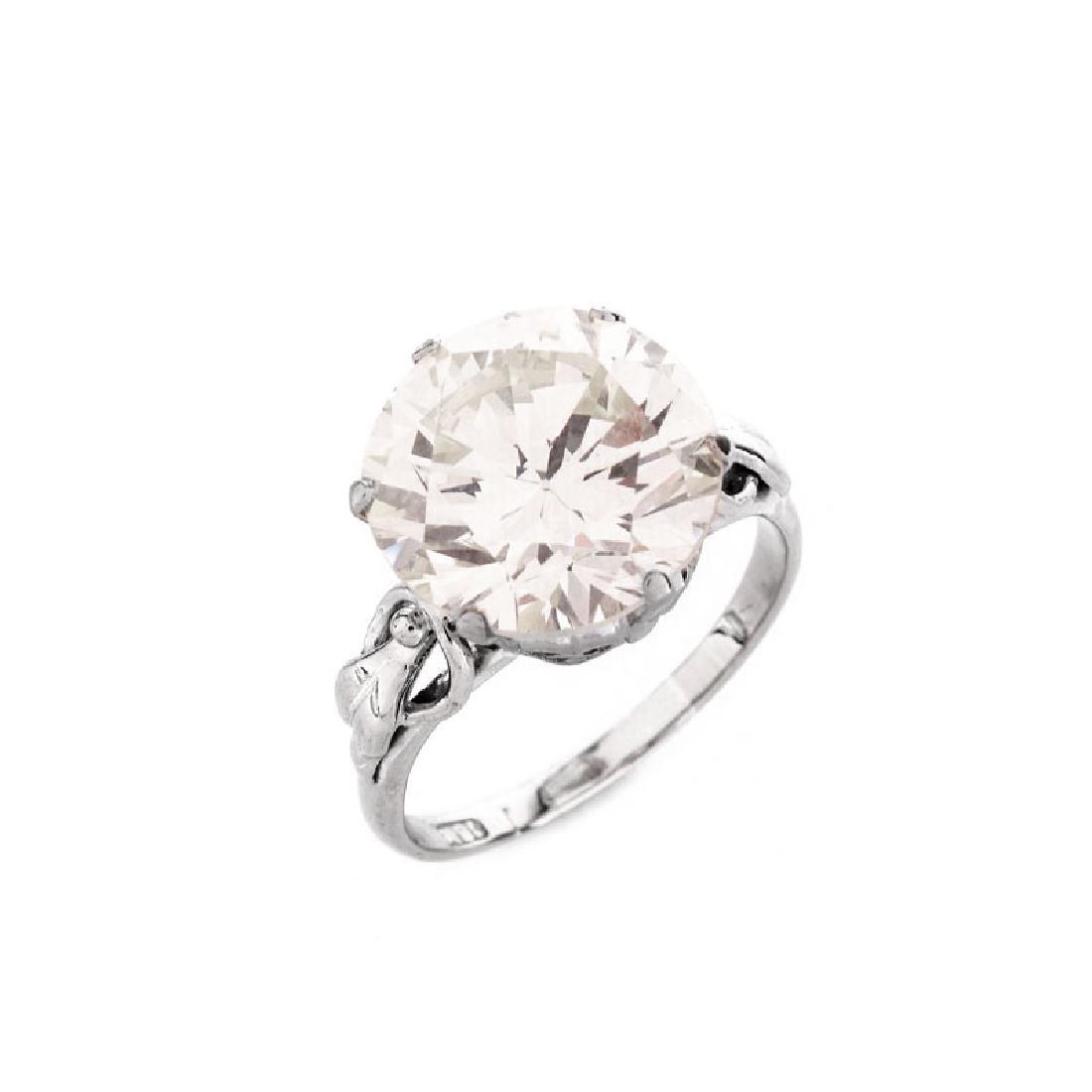 GIA Certified 9.44 Carat Round Brilliant Cut Diamond