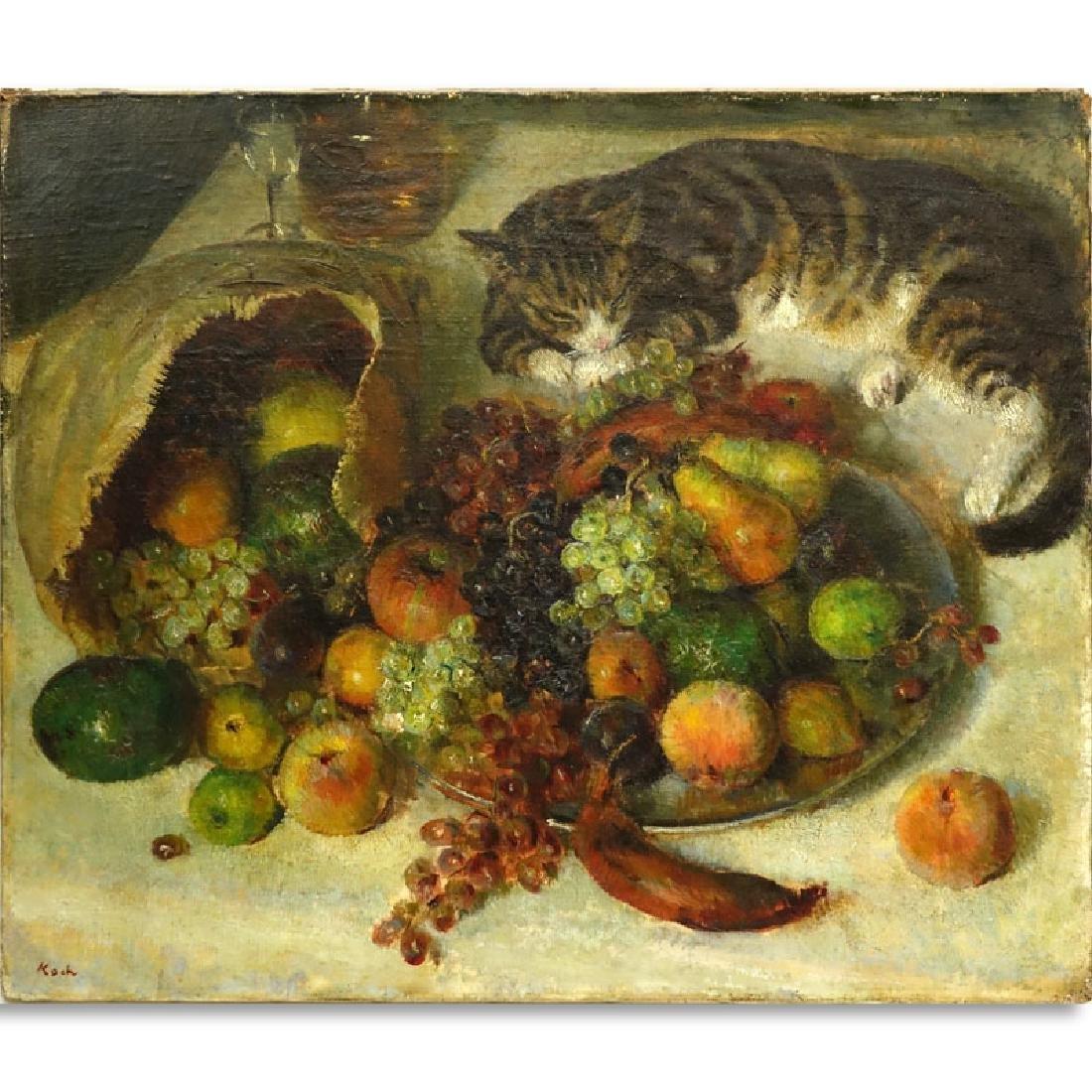 """John Koch, American (1909-1978) Oil on Canvas """"Still"""