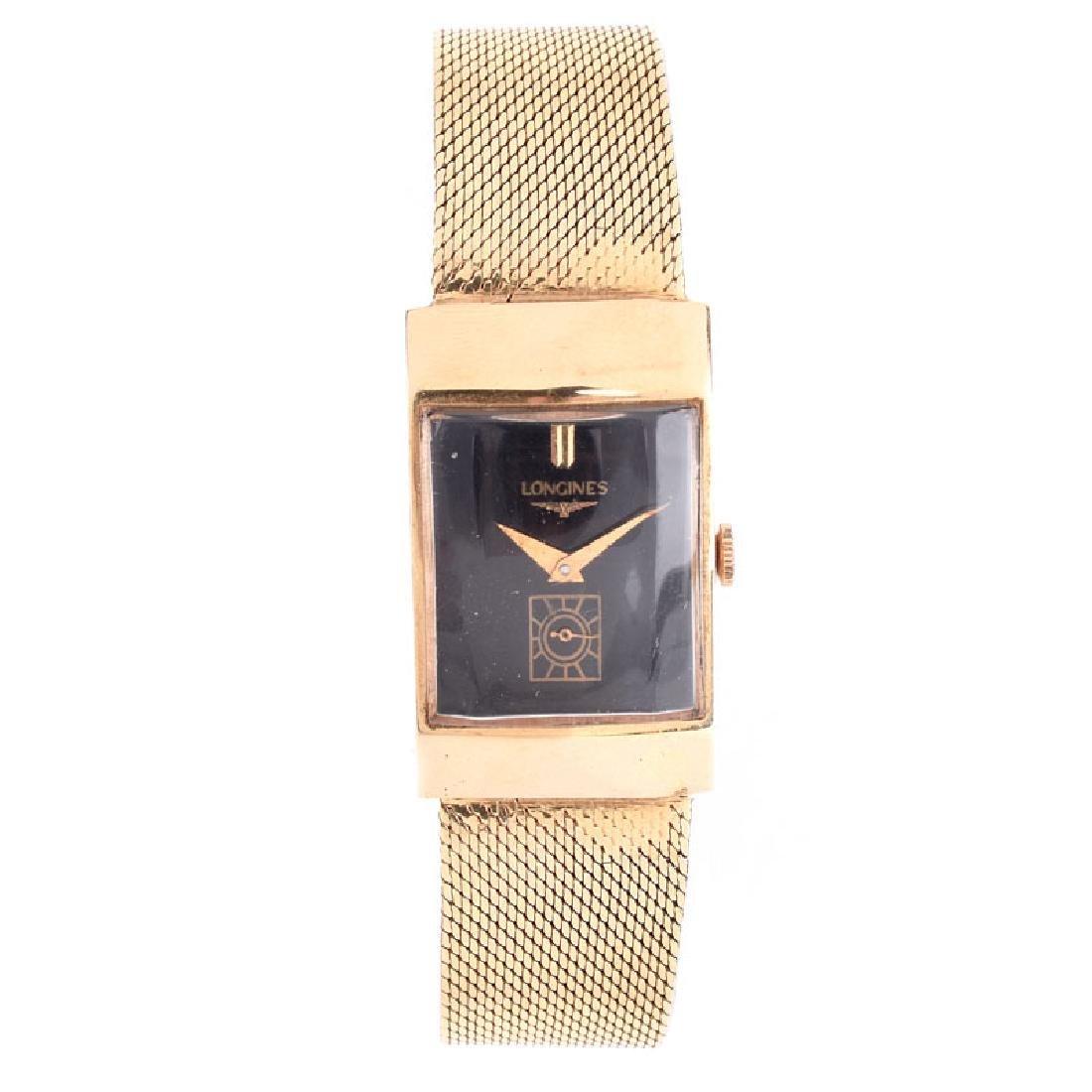 Man's Vintage Longines 14 Karat Yellow Gold Watch with