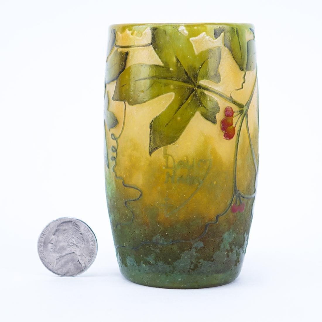 Art Nouveau Period Daum Nancy Cameo Glass Miniature
