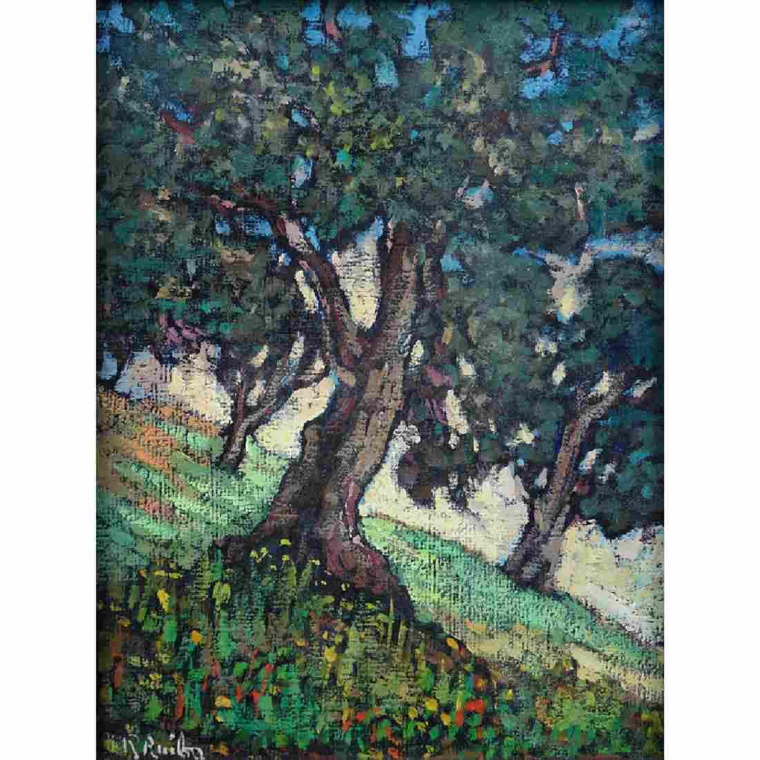 "Early 20th Century European School Oil On Canvas ""Study"