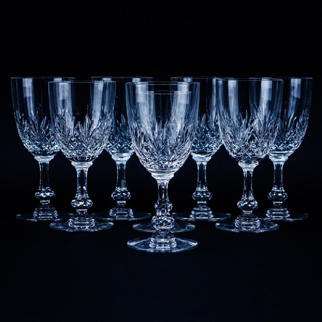 """Seven (7) Saint Louis Cristal Massenet Goblets 6-7/8"""""""