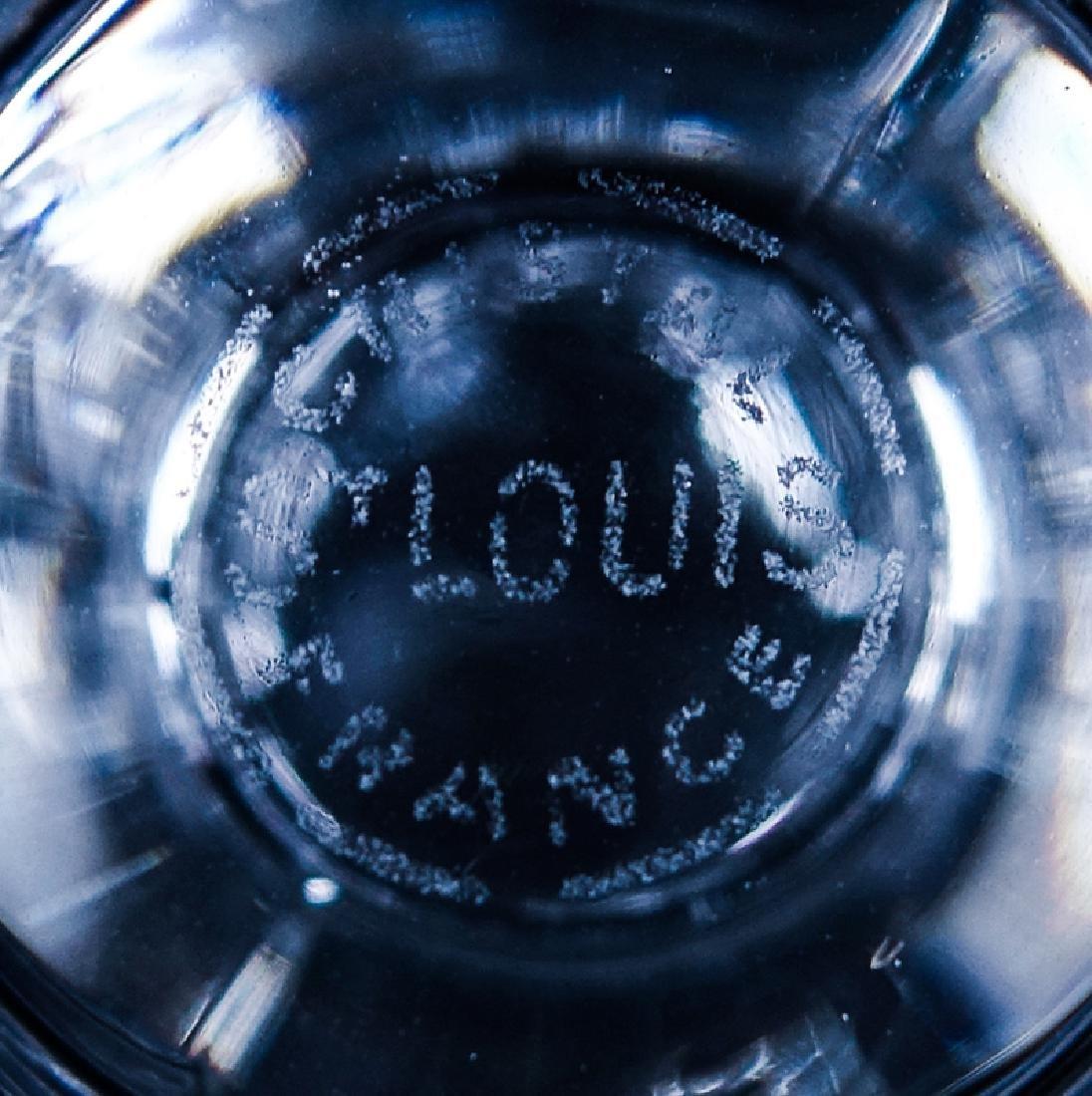 """Seven (7) Saint Louis Cristal Massenet Goblets 6-7/8"""" - 4"""