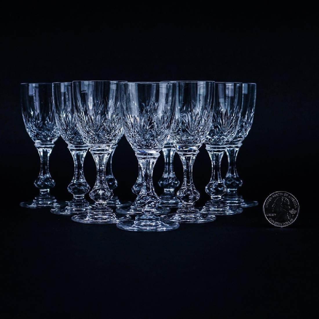 Ten (10) Saint Louis Cristal Massenet Cordial Glasses.