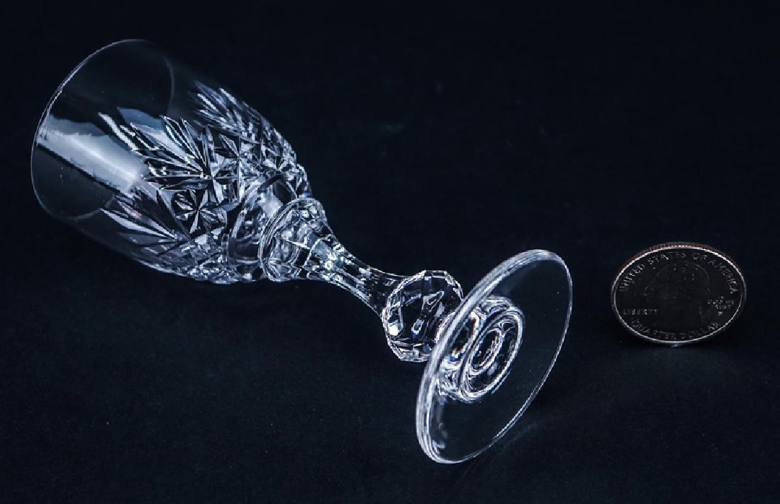 Ten (10) Saint Louis Cristal Massenet Cordial Glasses. - 4