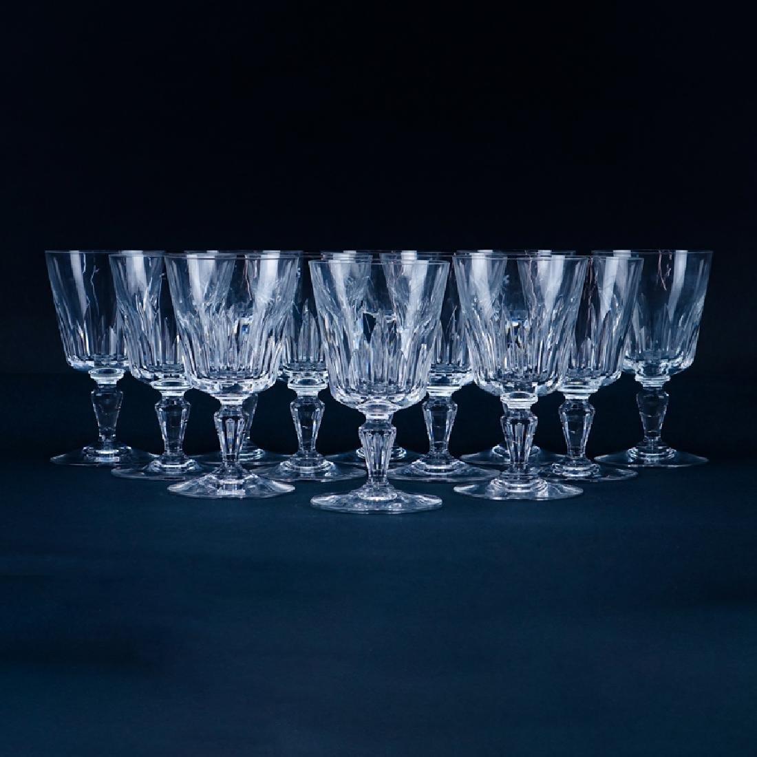 "Twelve (12) Baccarat ""Biarritz"" Crystal Water Goblets."