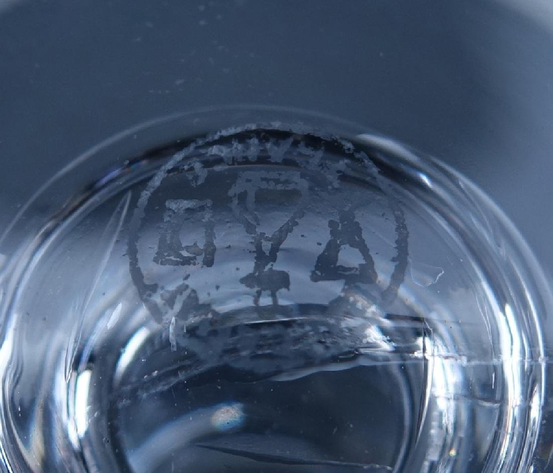 "Twelve (12) Baccarat ""Biarritz"" Crystal Water Goblets. - 5"