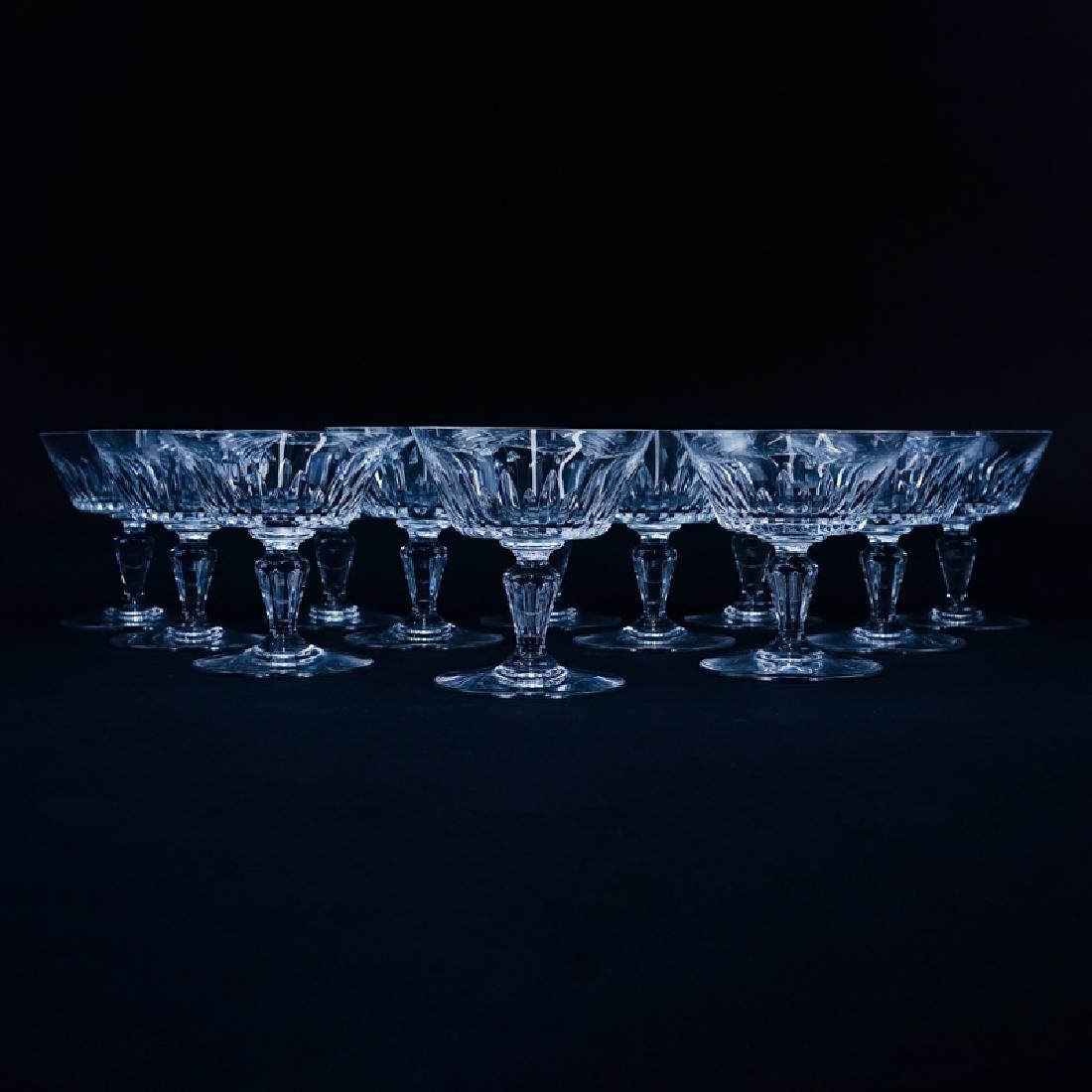 "Twelve (12) Baccarat ""Biarritz"" Crystal Champagne/Tall"