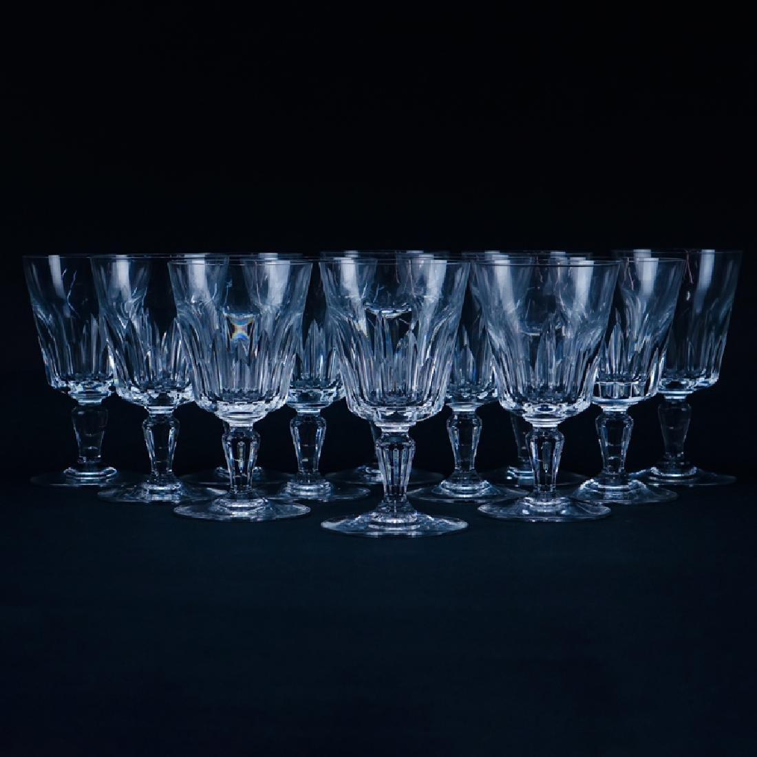 "Twelve (12) Baccarat ""Biarritz"" Crystal Wine Glasses."