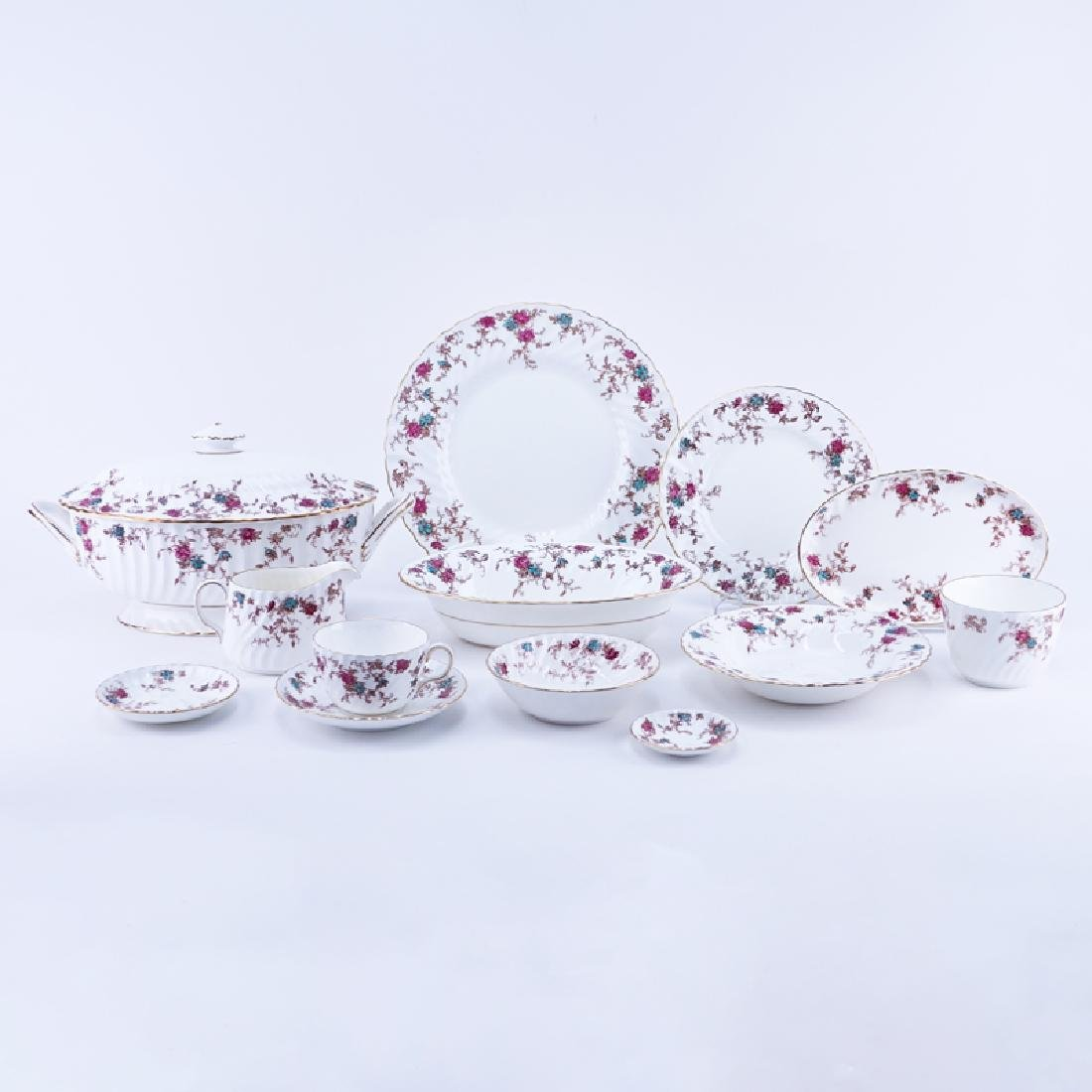 Sixty Nine (69) Piece Minton Ancestral Porcelain