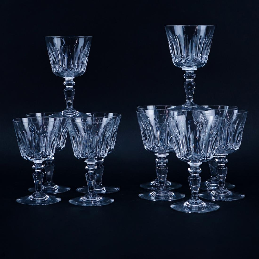Set of Eleven (11) Baccarat  Crystal Stems. Includes: 6