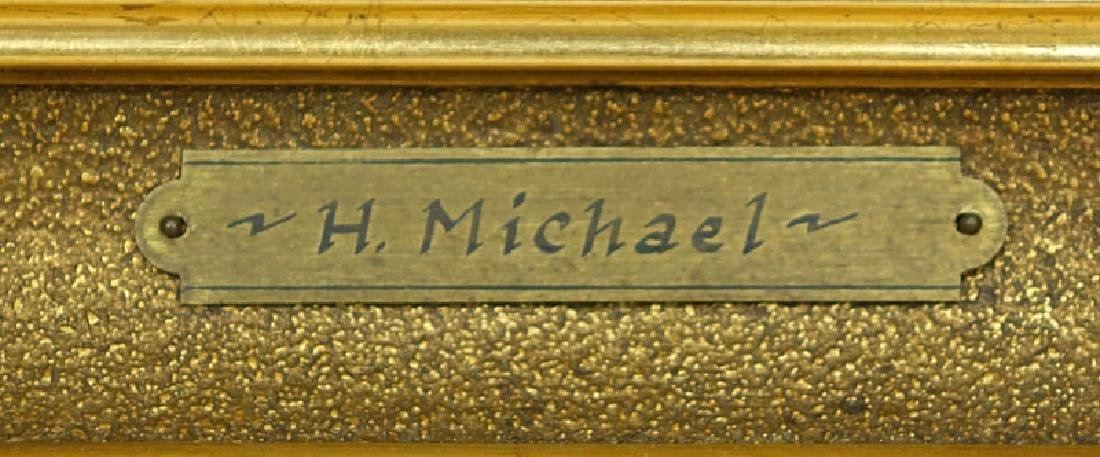 Well Done H. Michael (19/20th C.) European Oil on - 3