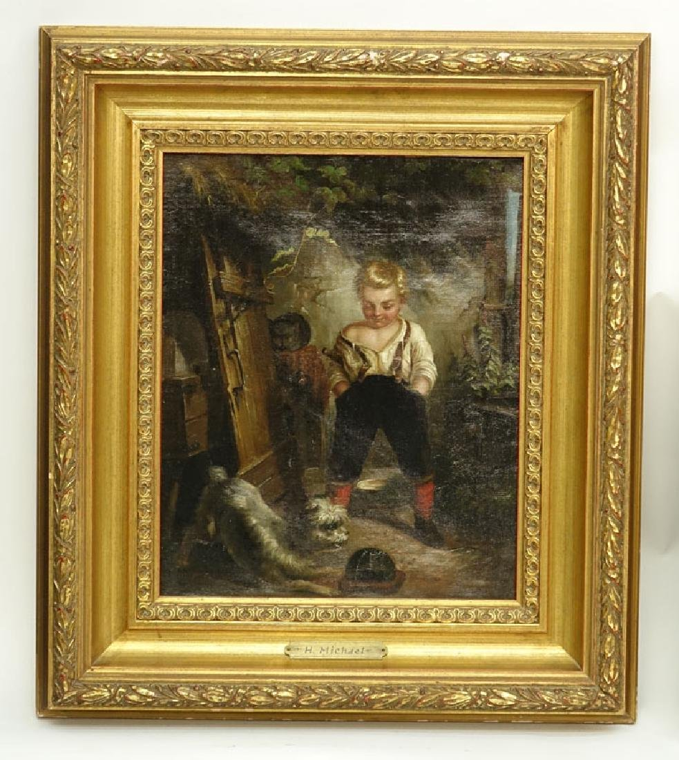 Well Done H. Michael (19/20th C.) European Oil on - 2