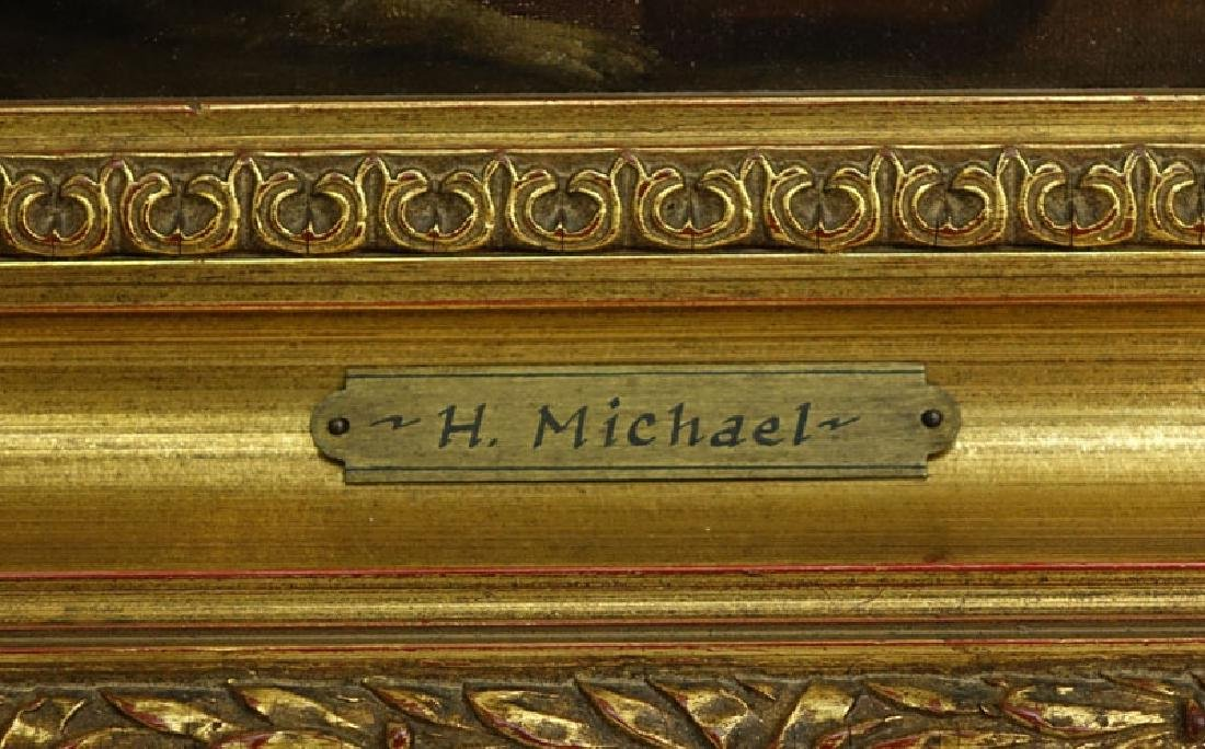 Well Done H. Michael (19/20th C.) European Oil on - 4