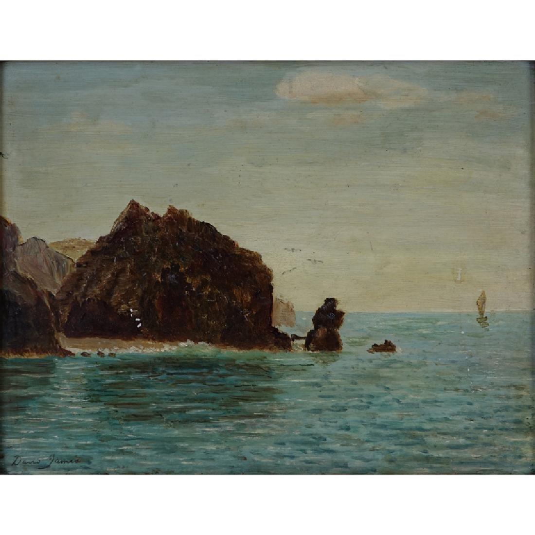 David James, British (1853 - 1904) Oil on Board, Near