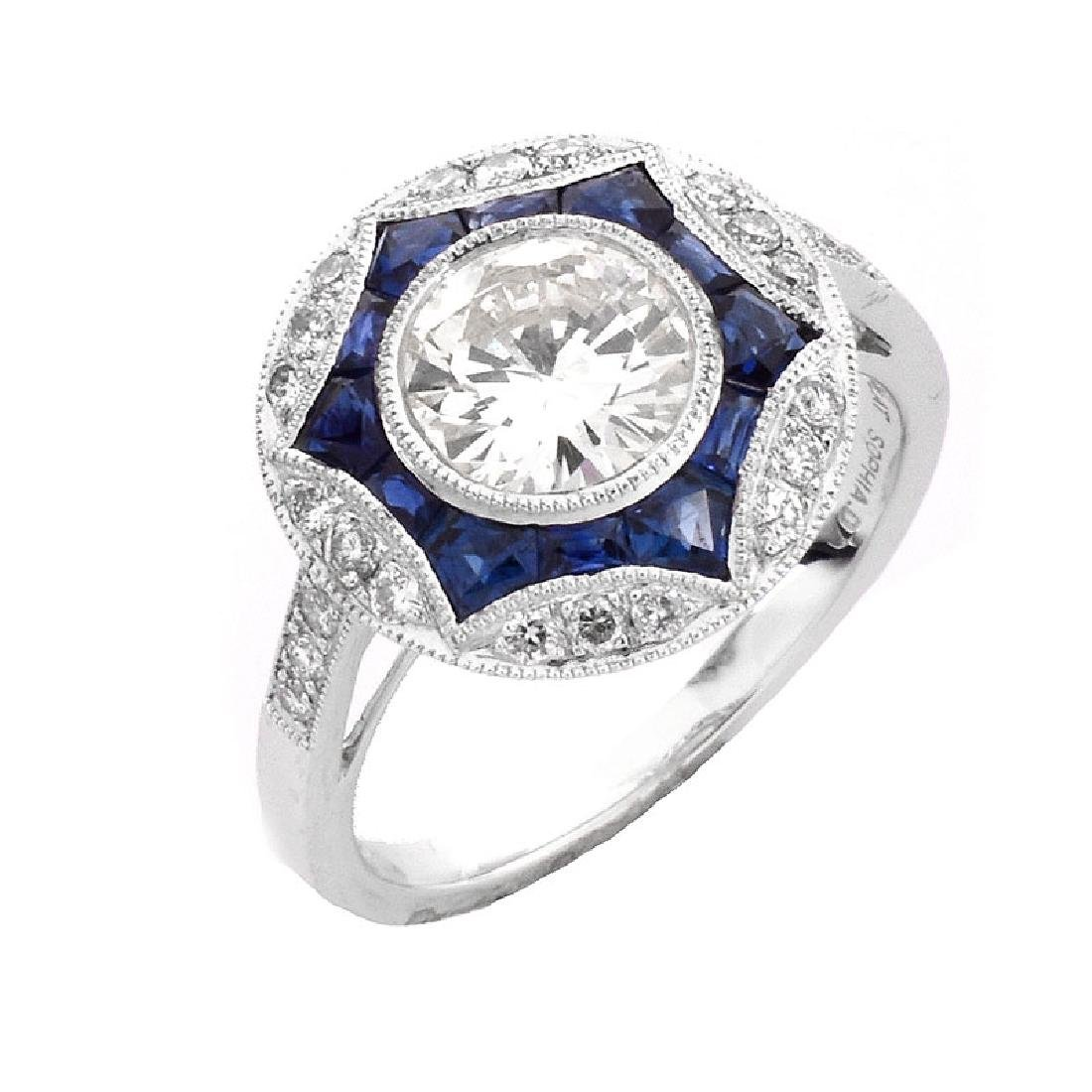 Art Deco style Approx. 1.20 Carat TW Diamond, .64 Carat