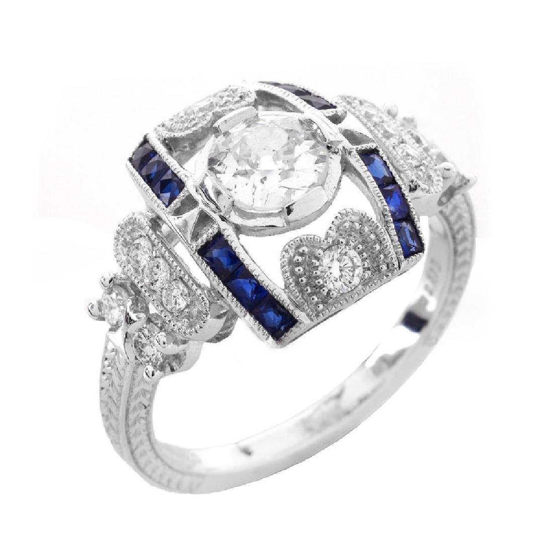 Art Deco style Approx. .86 Carat TW Diamond, .38 Carat
