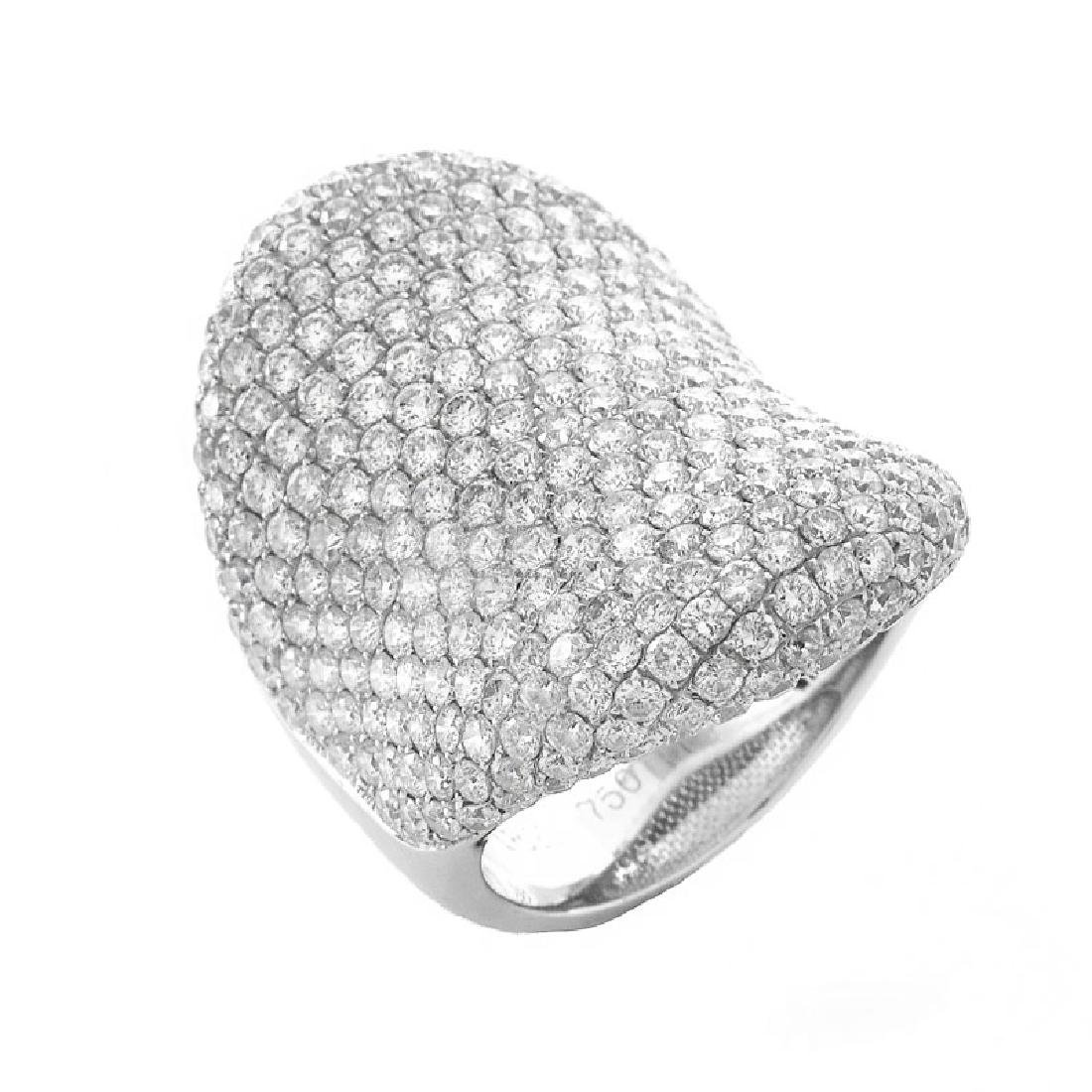 Contemporary Approx. 6.20 Carat Pave Set Round
