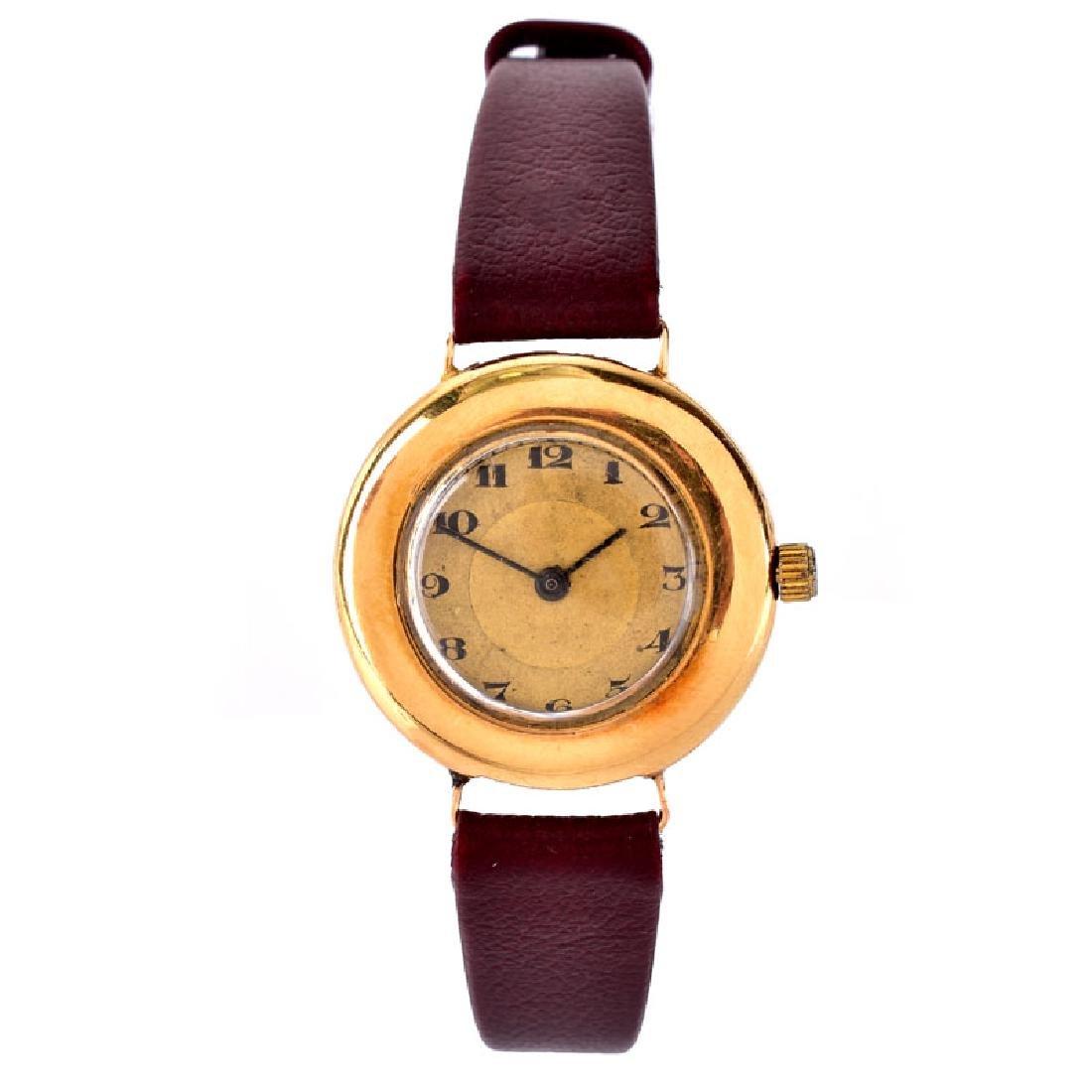 Antique 12 Karat Yellow Gold Hinged Bangle Bracelet - 3