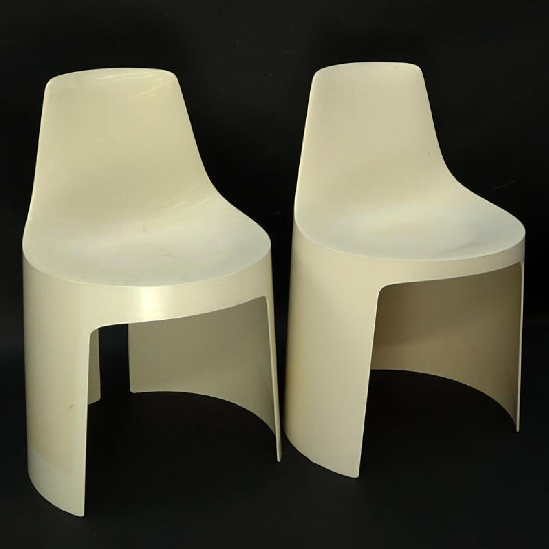 Pair of Mid Century Modern Molded Outdoor/Patio Chair.