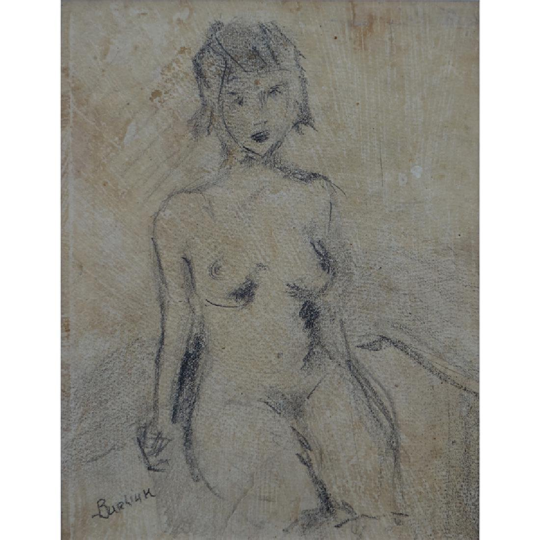 Early 20th Century Russian School Pencil On Paper
