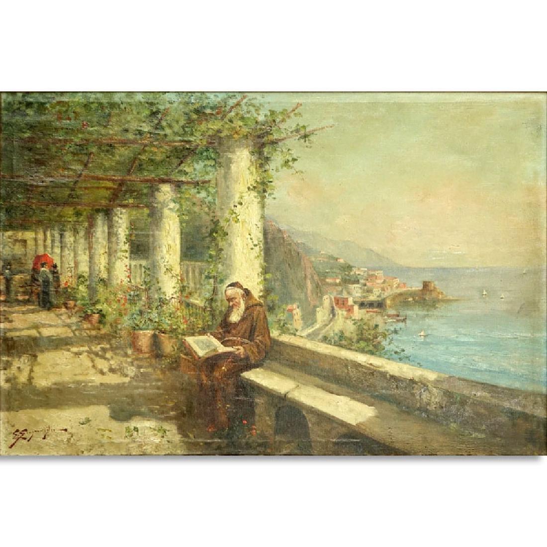 Edwardo Scognamiglio, Italian (19/20th century) Oil on