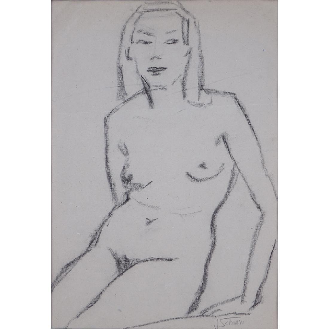 Jolanda Schiavi, Italian (1906-1976) Charcoal on paper